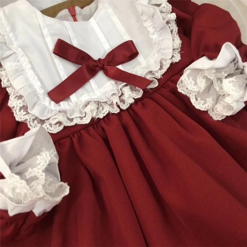 5362105a49 Dress vintage red baby Girls princess Dress Lace long sleeve New Year – I  sell what I love