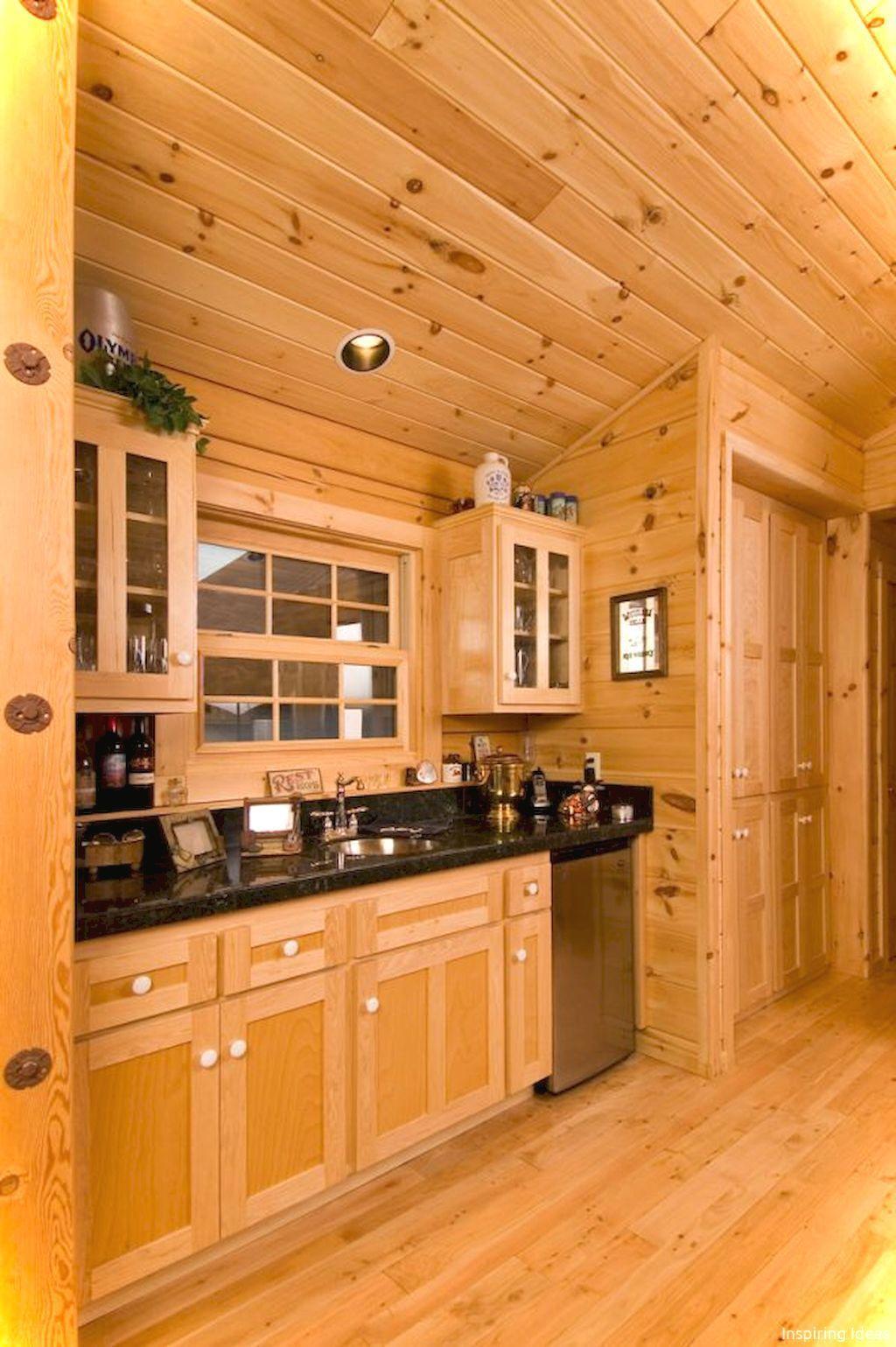 030 Gorgeous Cottage Kitchen Small Cabin Ideas Knotty Pine Kitchen Small Log Cabin Cabin Kitchens