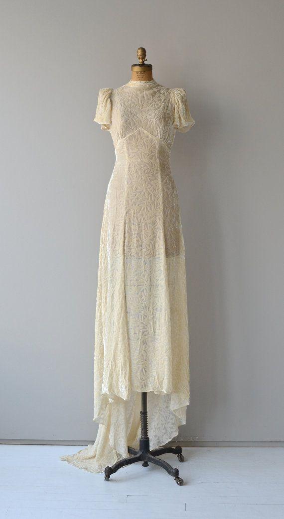 e0c6a576fe5 Delphine wedding gown • 1930s silk velvet wedding dress • vintage ...