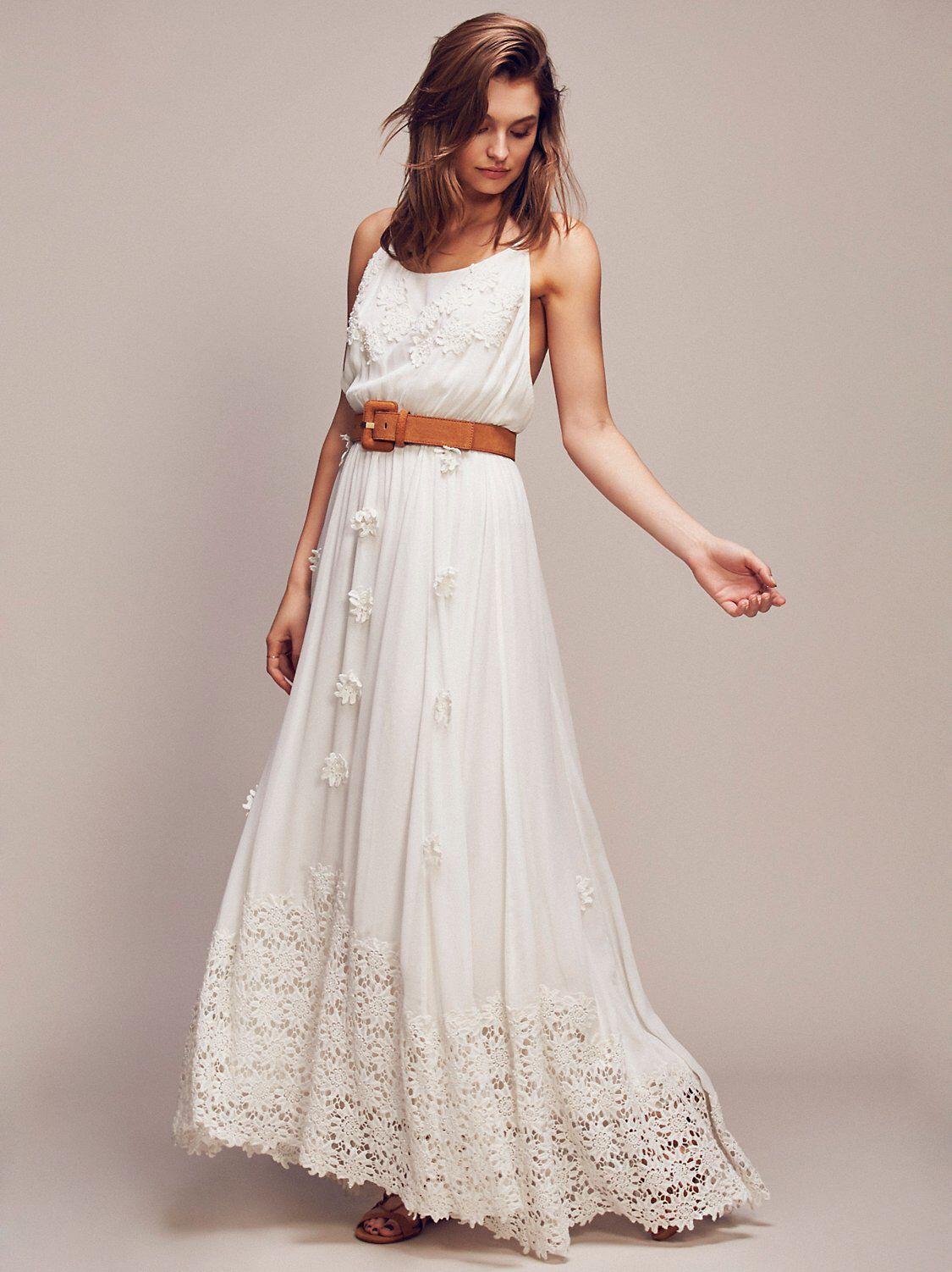 Daisy Petal Maxi Affordable wedding dresses, Alternative