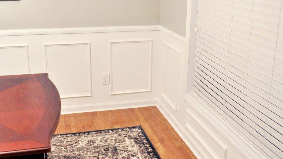 Easy wainscot paneling kits add a touch of beauty