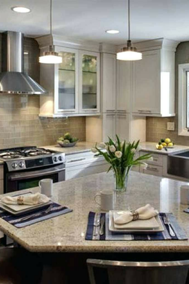 If you want an island in your kitchen the lshaped design is the