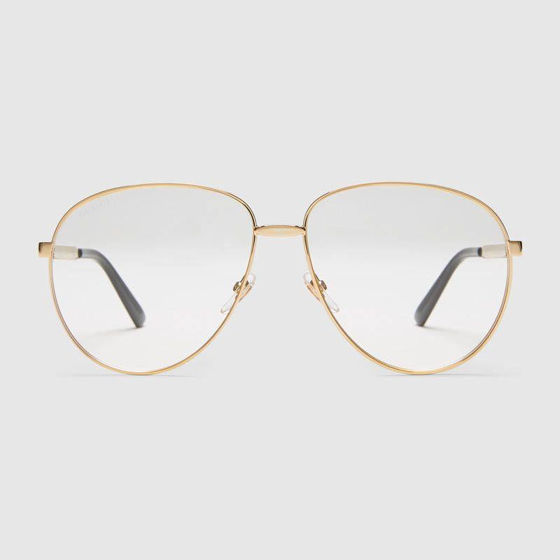 aa849c8e53c Gucci Aviator glasses with Web