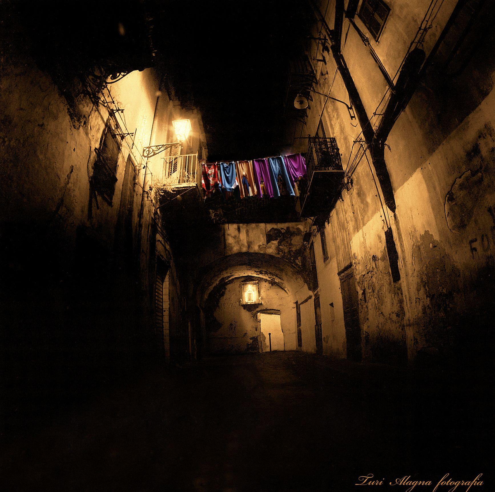 Centro storico della città di Palermo, di notte!