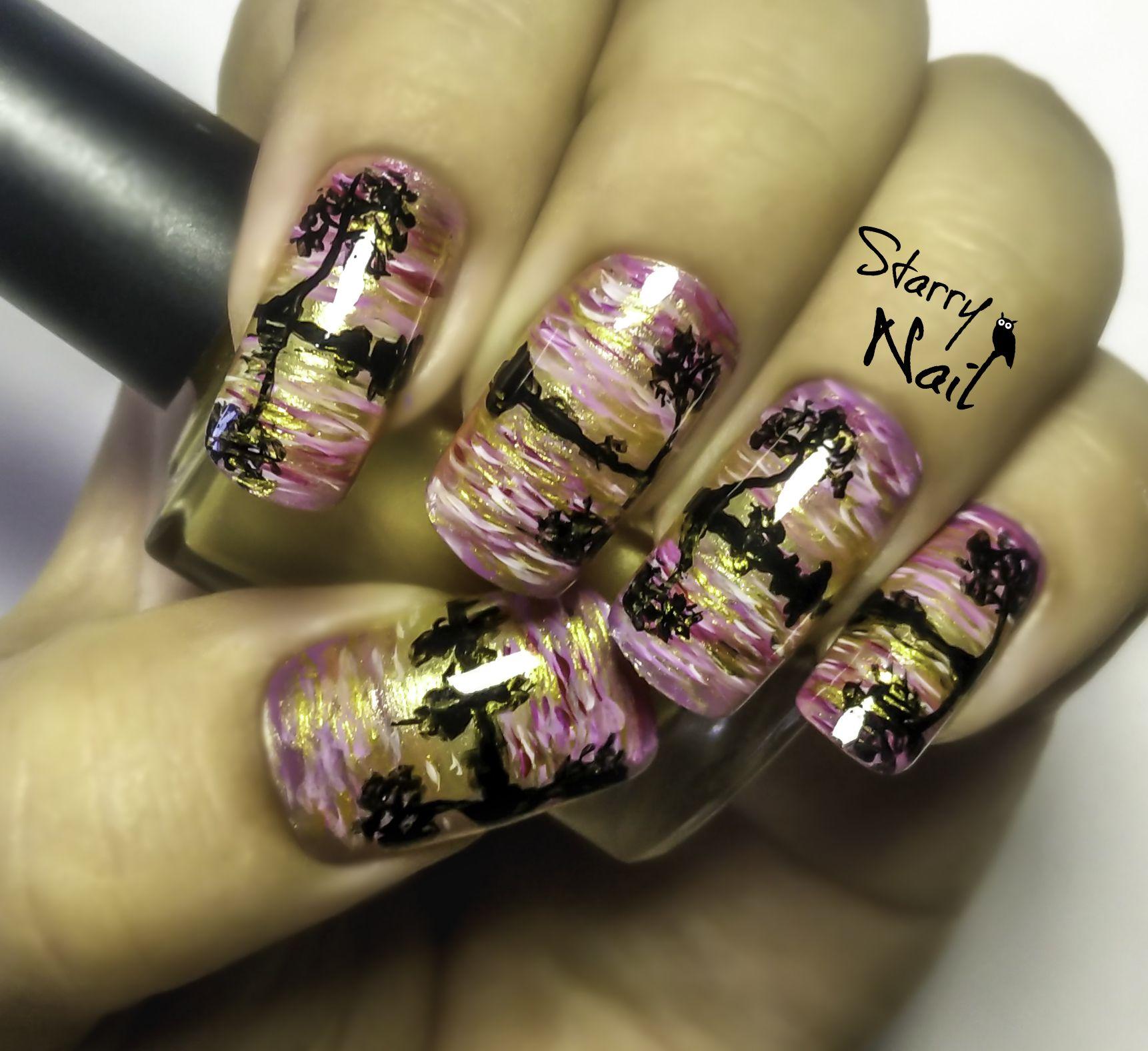 Reflexion in the Water Nail Art Tutorial #nail #nails #NailArt ...