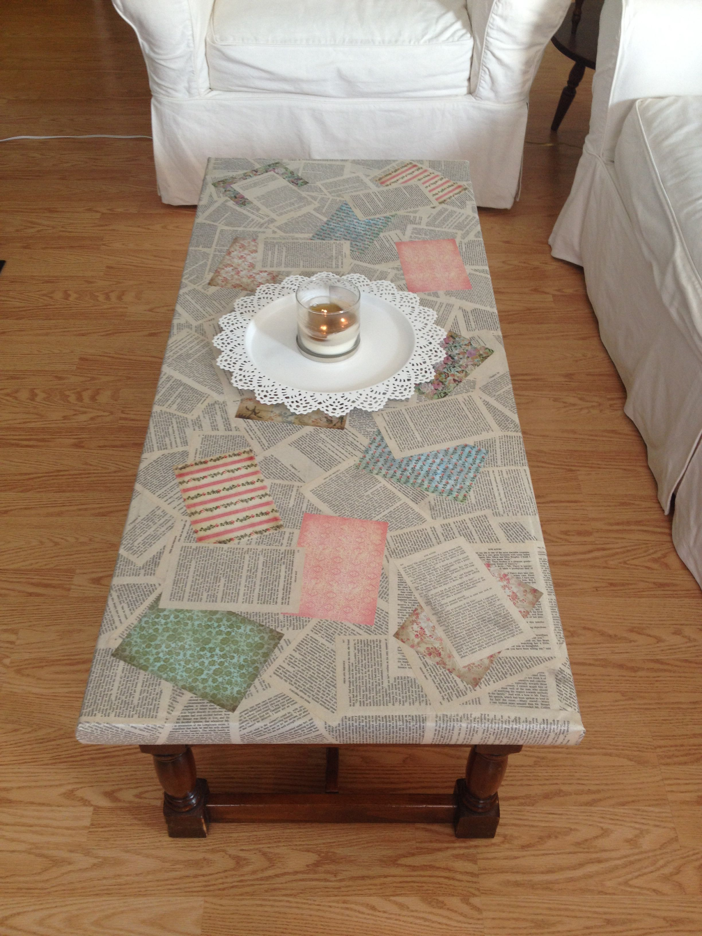 Coffee Table Decopodge Your Favorite Book On The Table Such A