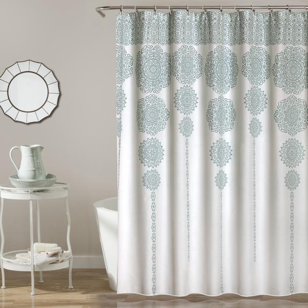 Stripe Medallion Shower Curtain Medallion Shower Curtain