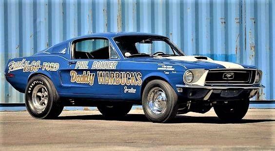 1968 Mustang 428ci Cobra Jet Drag Car Ford Mustang Cobra Drag