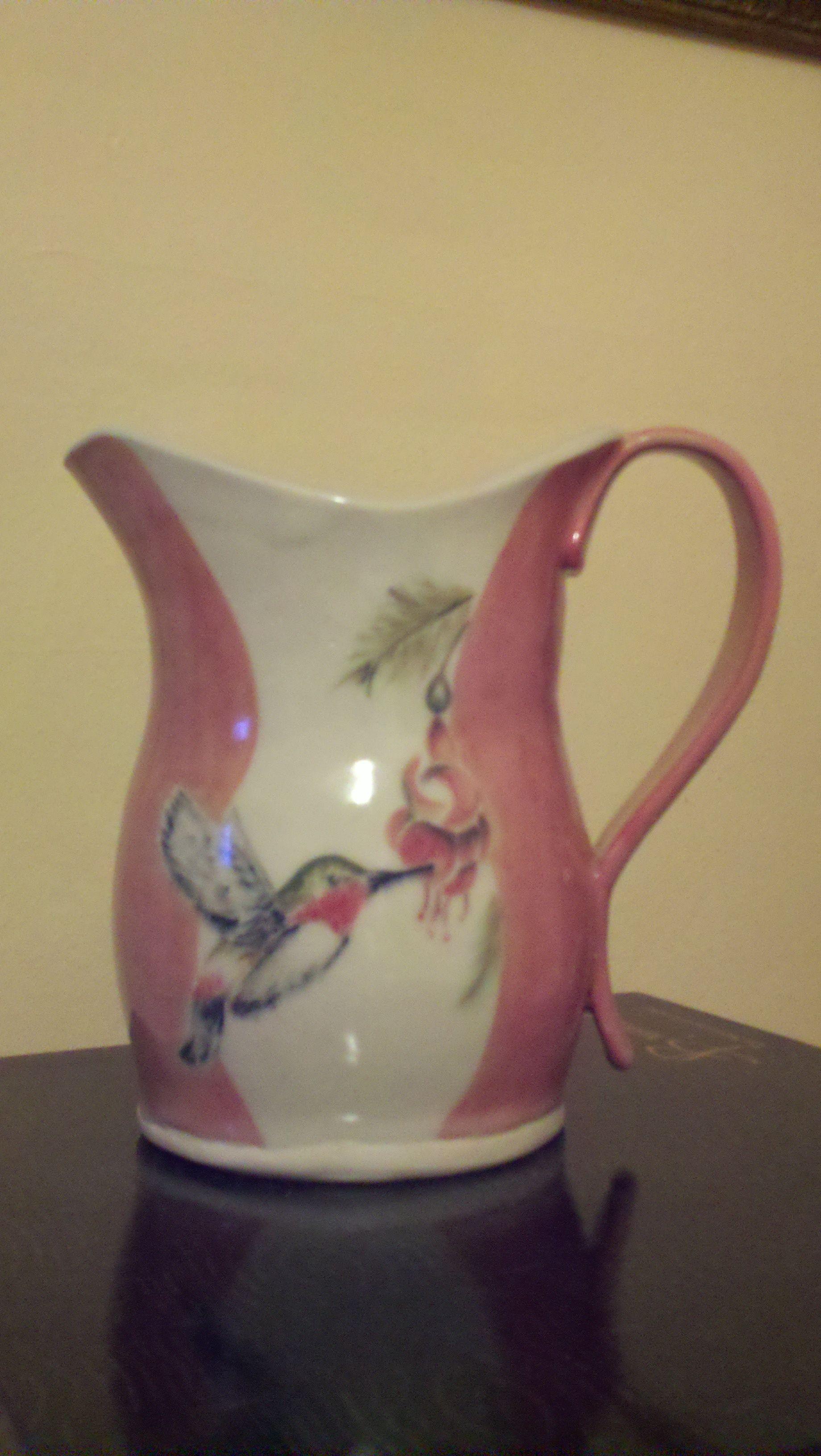 Hummingbird Pitcher; wedding gift for Jennifer