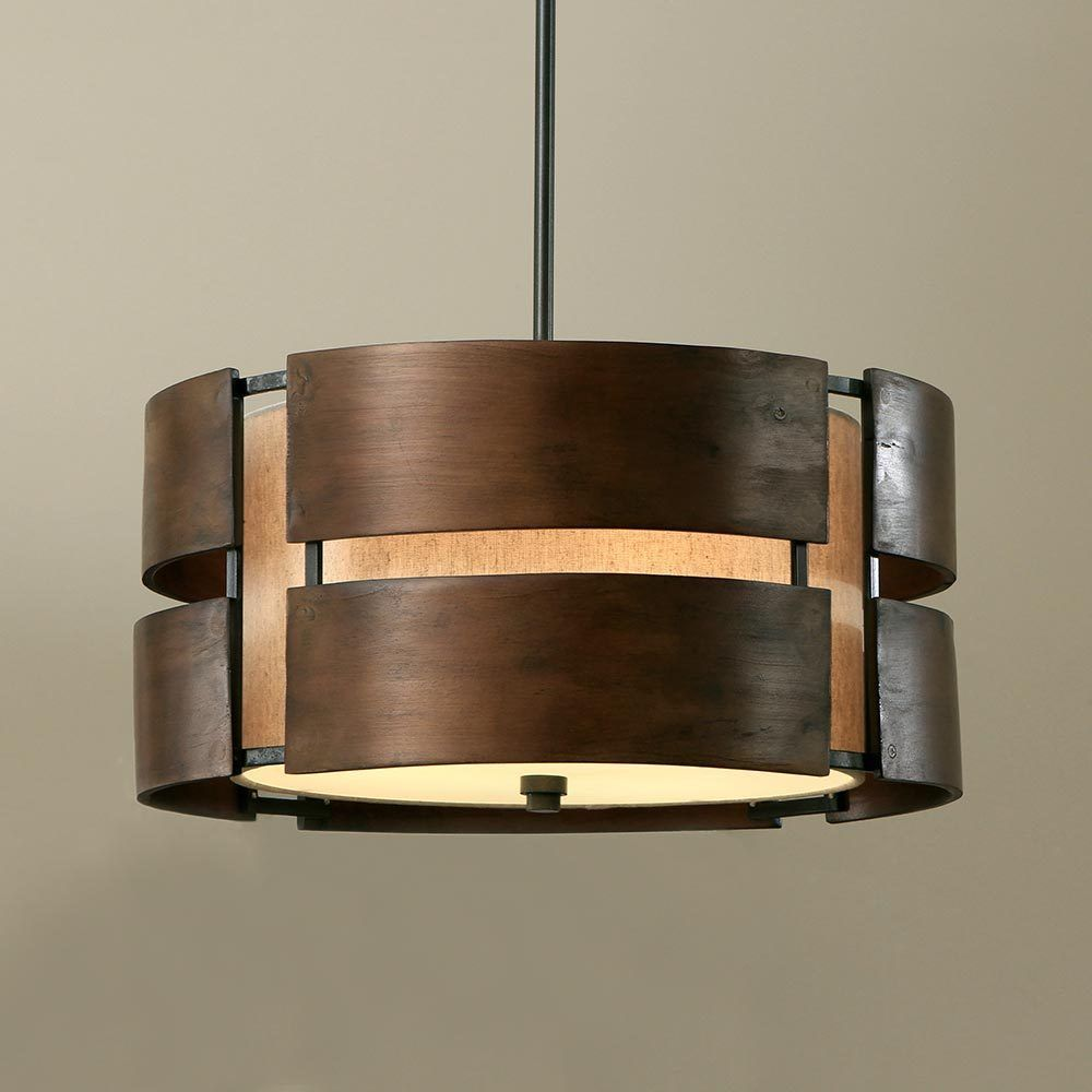 Walnut 3 light drum chandelier wood shade pendant lamp home walnut 3 light drum chandelier wood shade pendant lamp home ceiling lighting arubaitofo Image collections