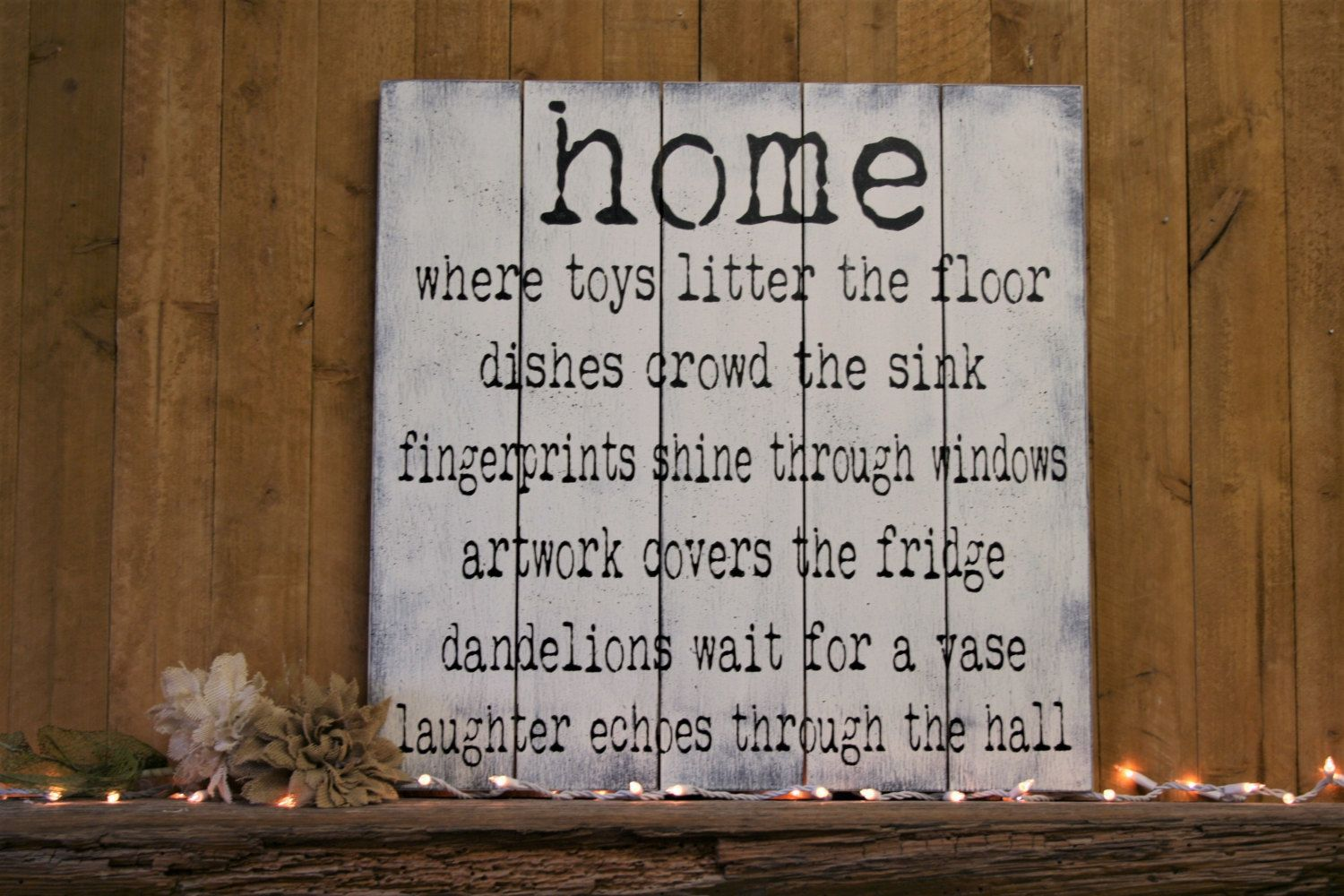 home where toys litter the floor wood sign pallet sign wall decor