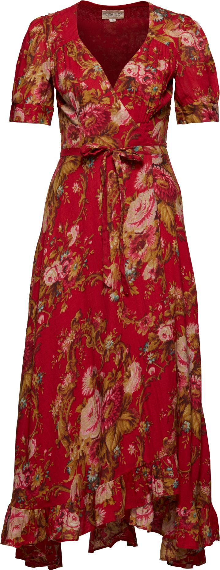 Langes Kleid mit Blumenmuster 'SSL WRAP TIE MA' | Kleid ...