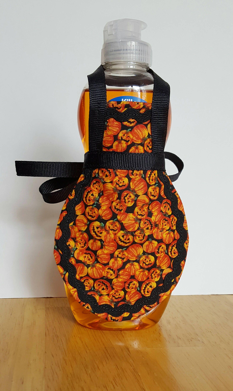 Halloween soap apron, jackolantern, pumpkin decor, dish