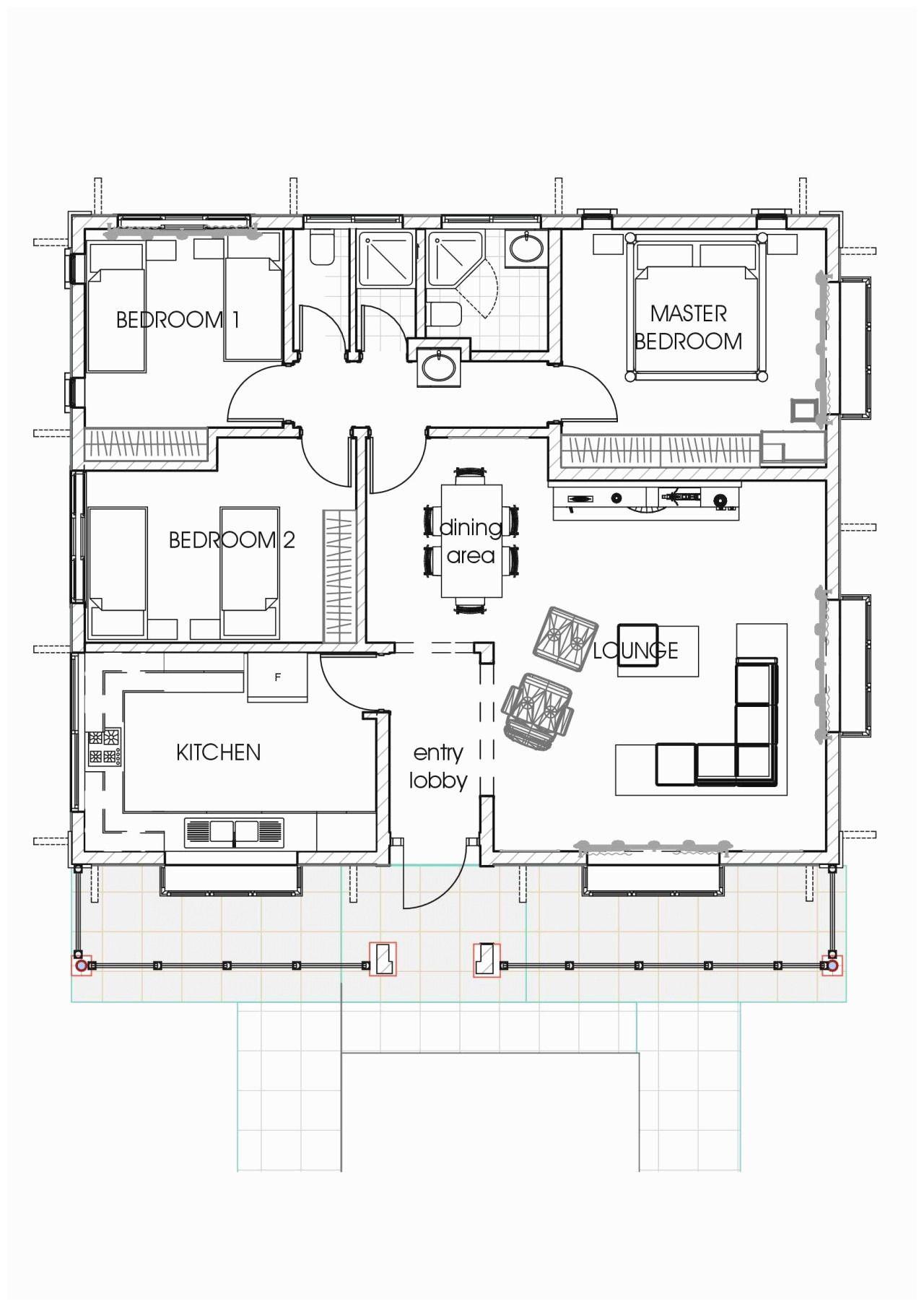 Three Bedroom Floor Plan In Nigeria  Three bedroom house plan