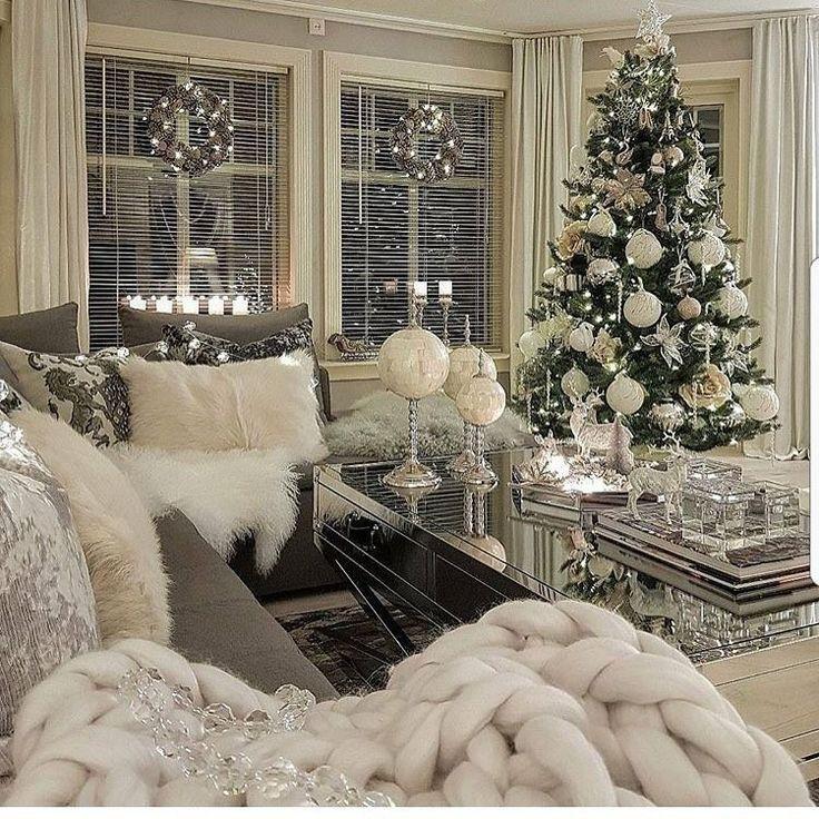 Pin By Satu Korajoki On Winter Wonderland White Christmas Decor Christmas Room Christmas Living Rooms Best living room christmas decorations