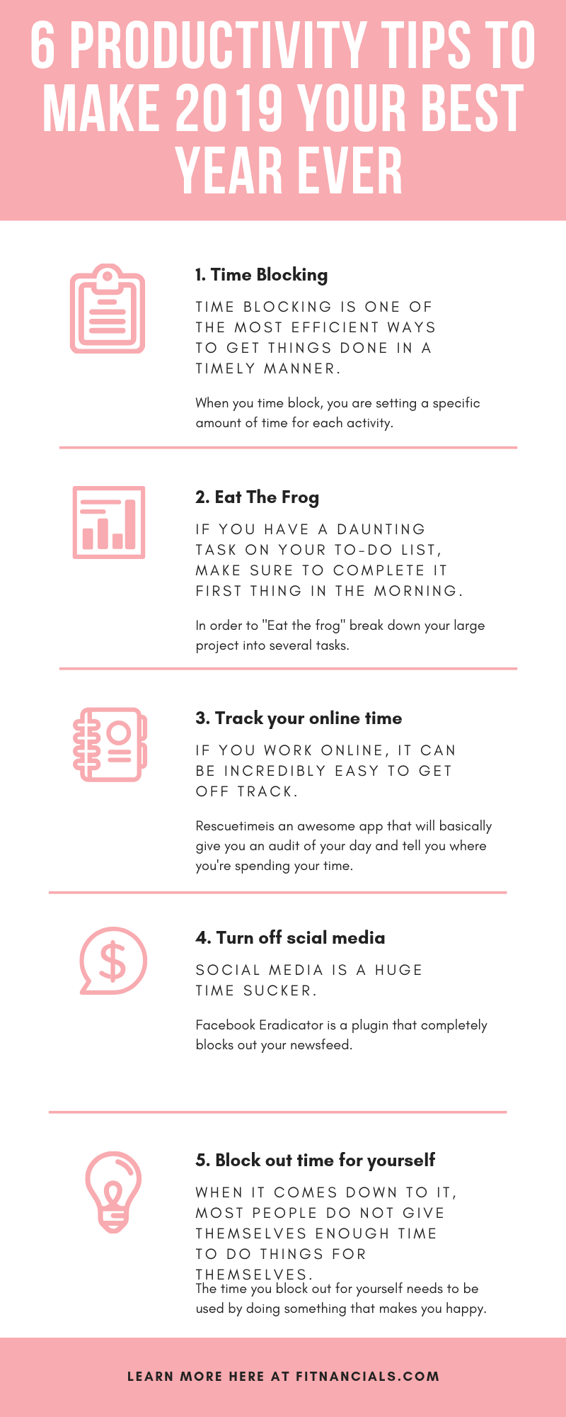 6 Productivity Tips To Make 2020 Your Best Year Ever That Actually Work Time Management Tips Management Tips Productivity Hacks
