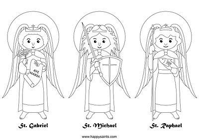 Archangels Coloring Page Catholic Coloring Saint Coloring