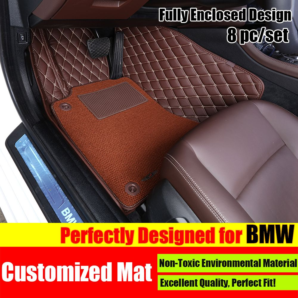 8pcs Customized Fit Car Floor Mat Carpet Pad Liner For Bmw X1 X3 X5 X6 1 3 5 7 Series Car Styling Liners Bmw Accessories Bmw Carpet Accessories