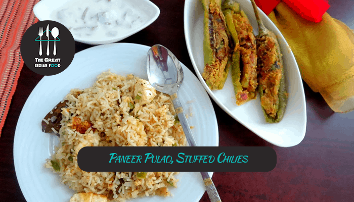 Paneer pulao stuffed chilies the great indian food is a india paneer pulao stuffed chilies the great indian food is a india based cooking website forumfinder Gallery