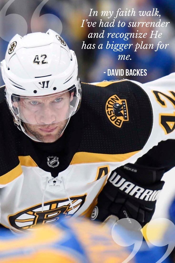 Professional ice hockey player David Backes has played 13