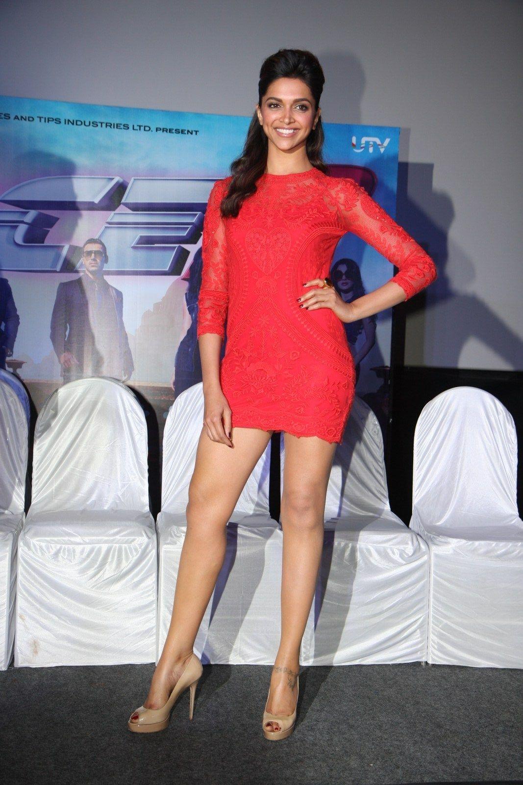 Deepika Padukone Ladies Mini Dresses Mini Dress Red Mini Dress