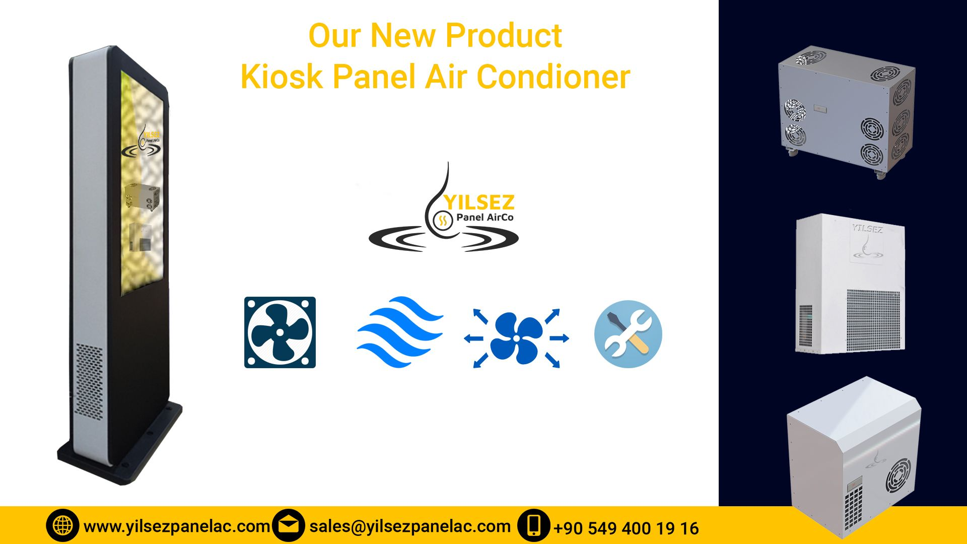 Kiosk Panel Air Conditioner Electrical Cabinet Coolers Panel Air