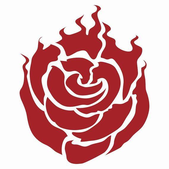 rwby ruby symbol decal vinyl logo rwby symbols and rwby