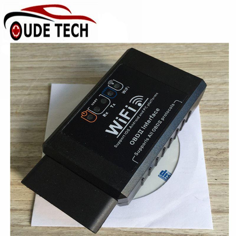 Black ELM 327 V1 5 software V2 1 hardware ELM327 WIFI USB OBD2 EOBD