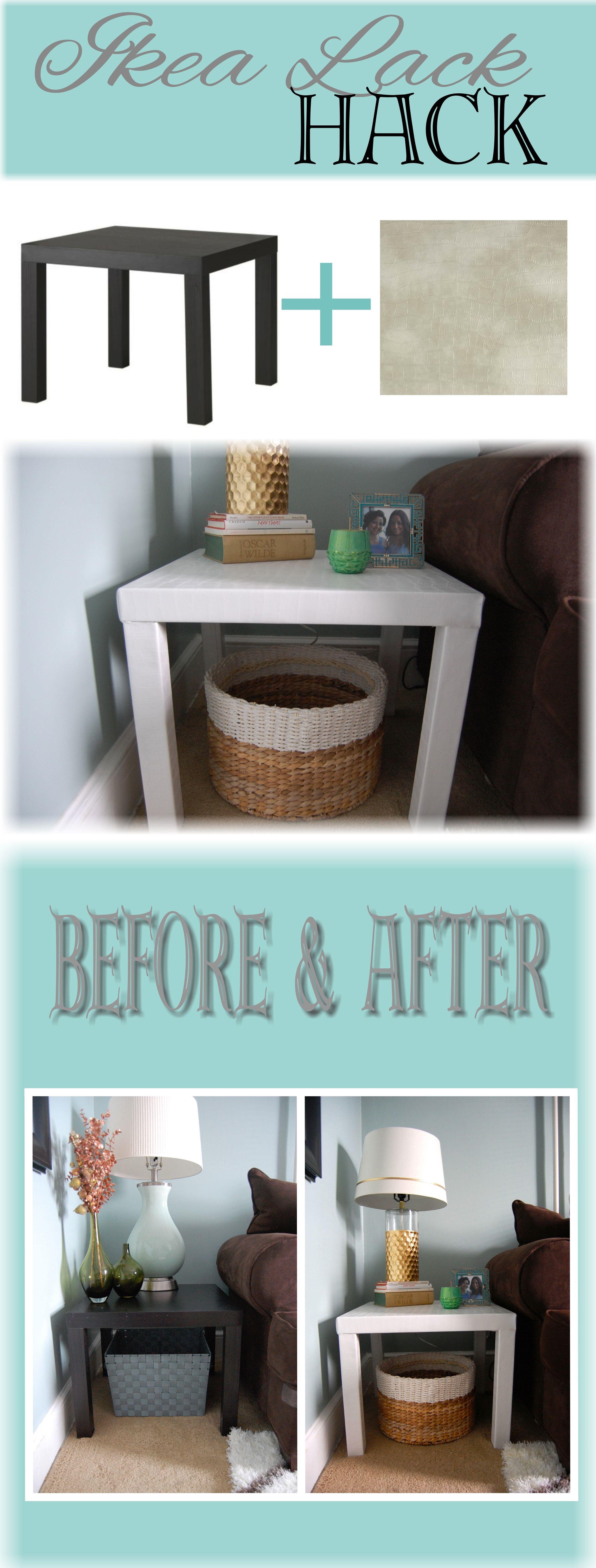 ikea lack side table hack diy. Black Bedroom Furniture Sets. Home Design Ideas