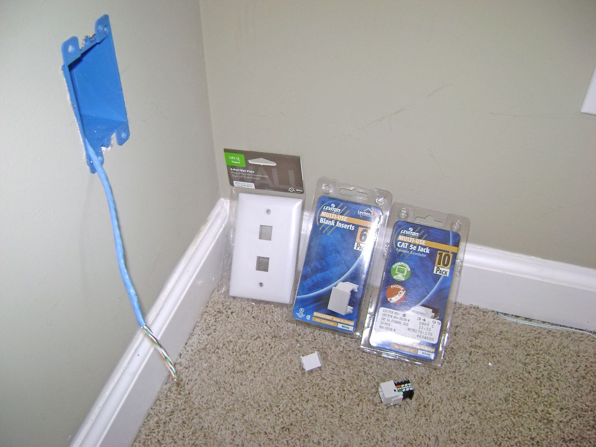 Ethernet Wall Jack Wiring Kit | Ethernet | Pinterest | Tech