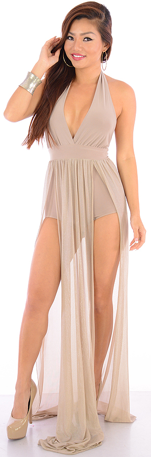 Flawless Time (LT Brown)-Great Glam is the web's best online shop for trendy club styles, fashionable party dresses and dress wear, super hot clubbing clothing, stylish going out shirts, partying clothes, super cute and sexy club fashions, halter and tube