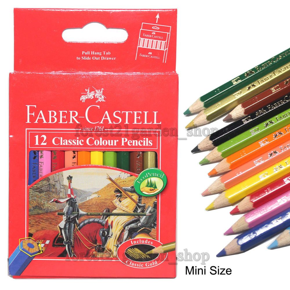 Faber Castell Classic Colour Pencils Mini Size Pack Of 12 Pen
