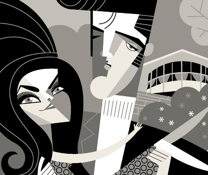 Elvis & Priscilla by Pablo Lobato