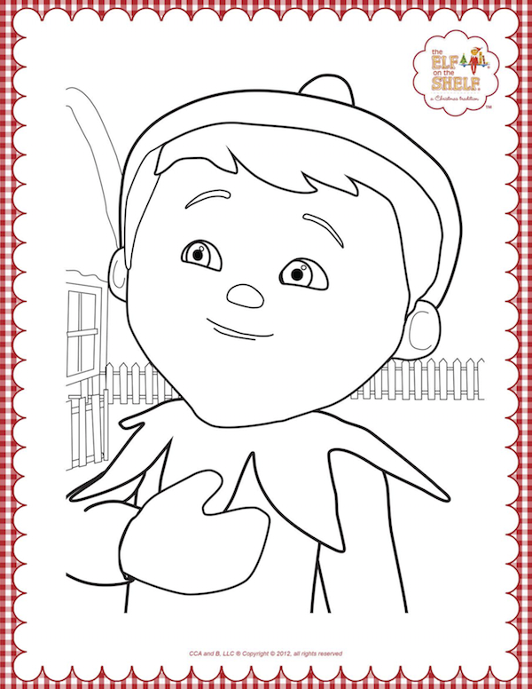 xelf on a shelf coloring pages 16pngpagespeedicv8dpuiafd_png 600776