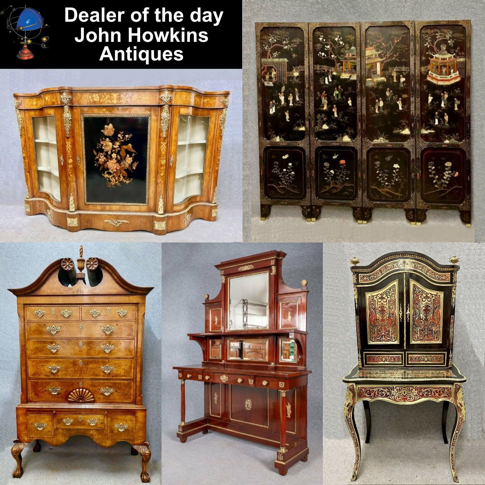 A 3rd generation family business specialising in buying and selling quality antique furniture and decorative items. Warehouse viewing by appointment only, day or evening. #antiquefurniture #credenza #chinesescreen #antiquechest #consoletable #bonheurdujour #writingcabinet #bedroomscreen #bedroomdecor #livingroomdecor