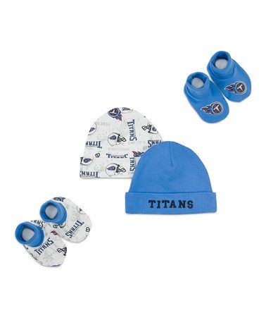 004a967cb4c2a White   Blue Tennessee Titans Beanie Set by NFL on  zulily