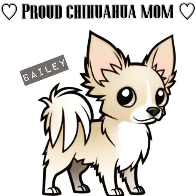 • Cartoon of Bailey • #chihuahua #longhaired #dog #cartoon