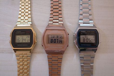 vintage casio gold, rose gold, silver | Cassio vintage  PRMxF