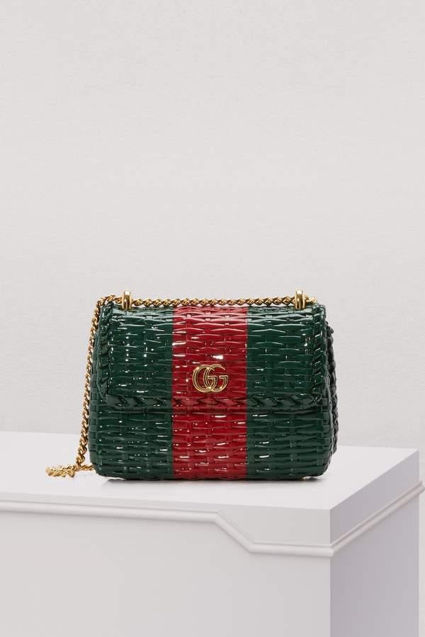 b9aaab369756 Gucci Cestino straw mini shoulder bag | GUCCI bags | Bags, Gucci ...