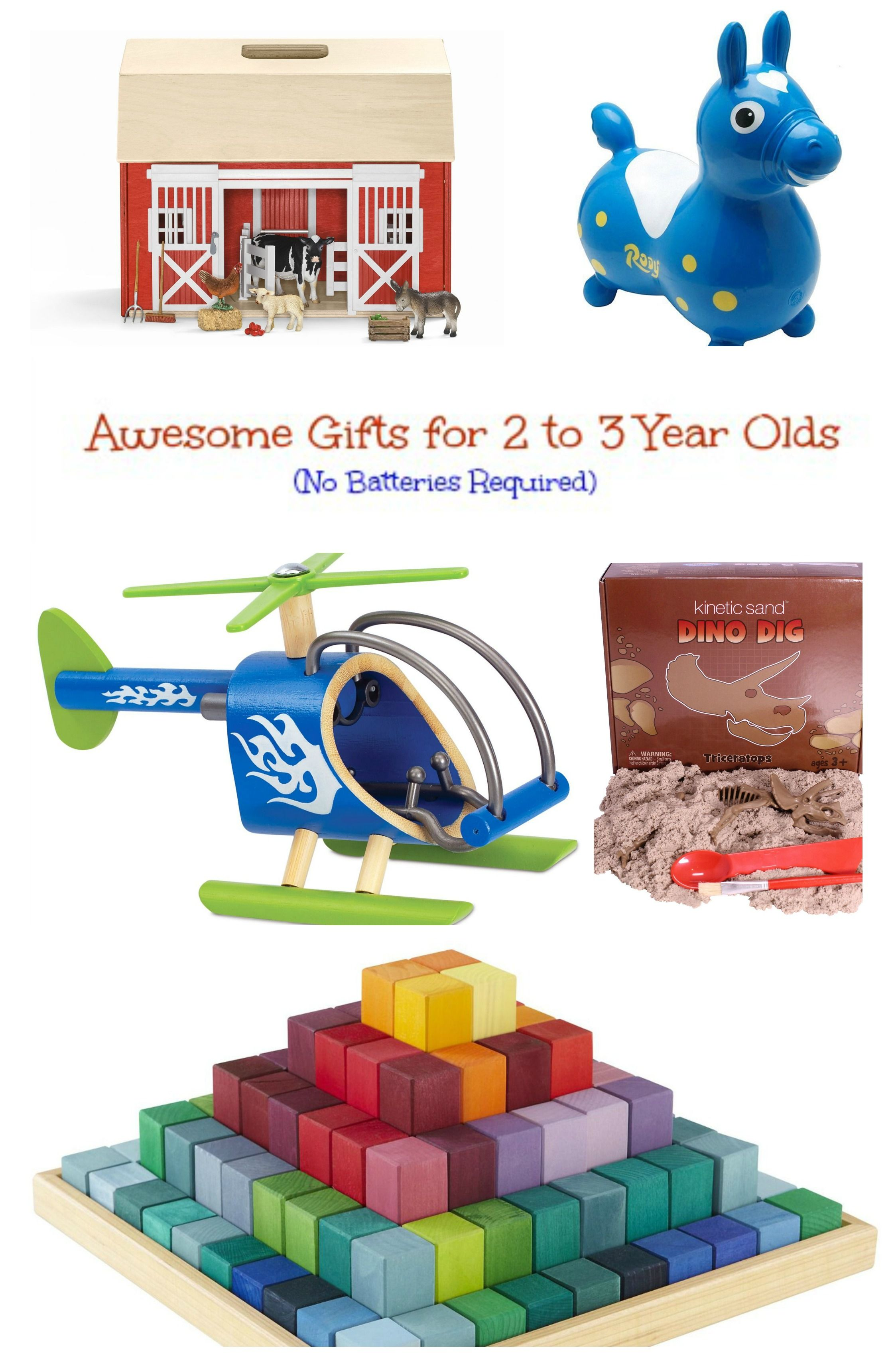A list of simple, battery-free gifts for 2 to 3 year olds. | The ...