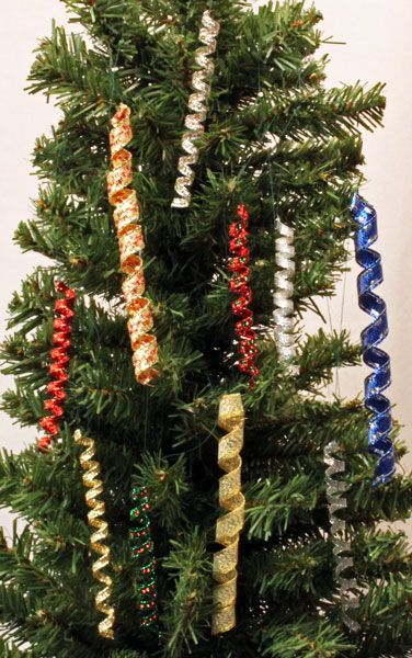 Funezcrafts Easy Christmas Crafts Wired Ribbon Icicle Ornament Christmas Ribbon Crafts Christmas Ornament Crafts Christmas Ornaments To Make