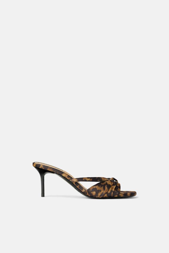 zara animal print heels