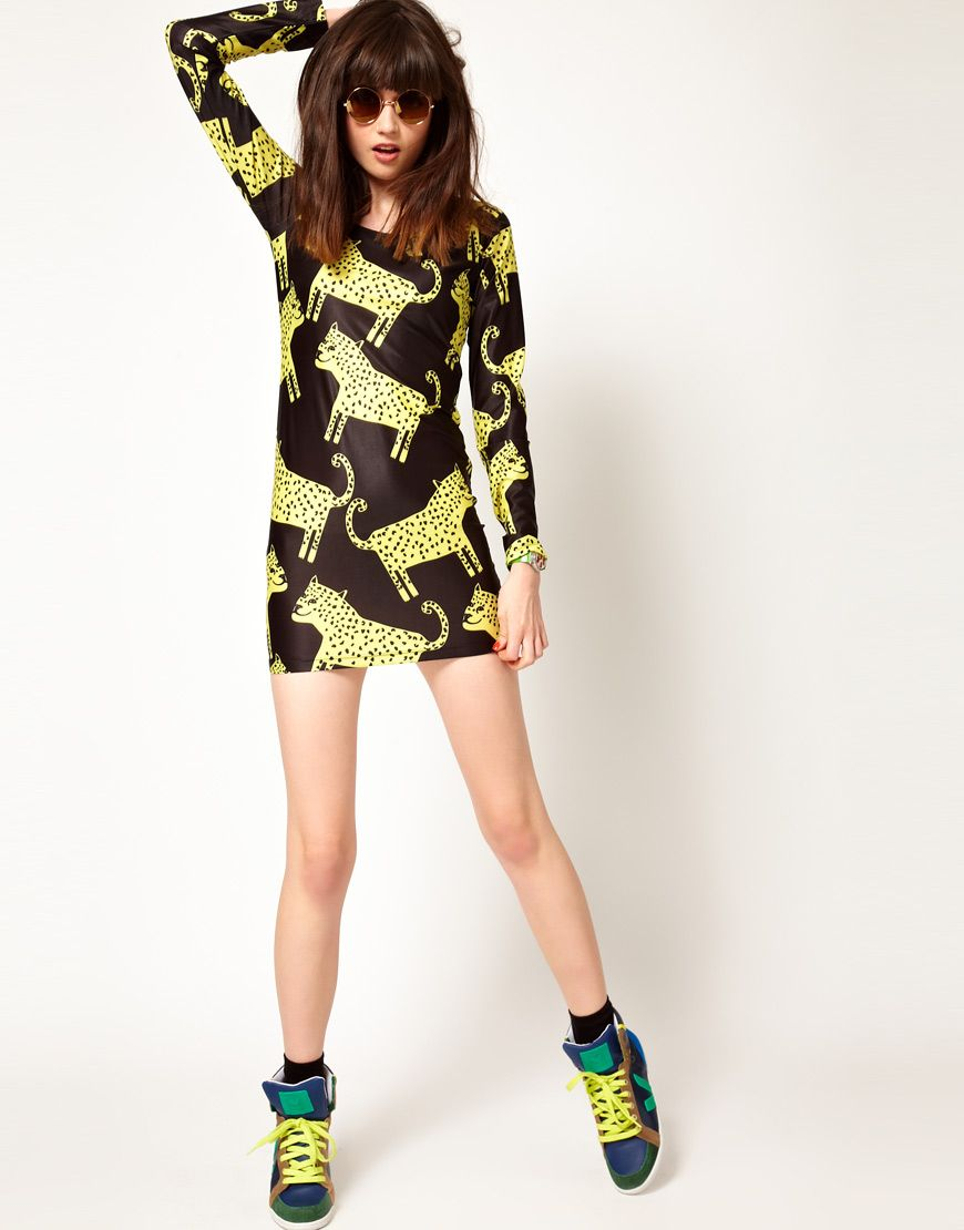 Monki lightweight shirt lazy oaf and body con