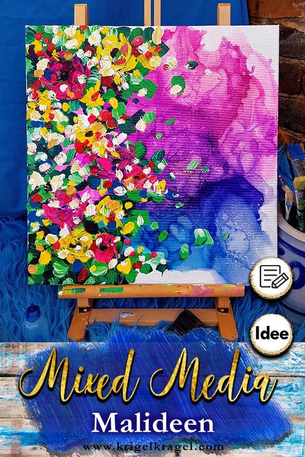 Malideen Fur Funf Mixed Media Bilder Mit Alkoholtinte Und