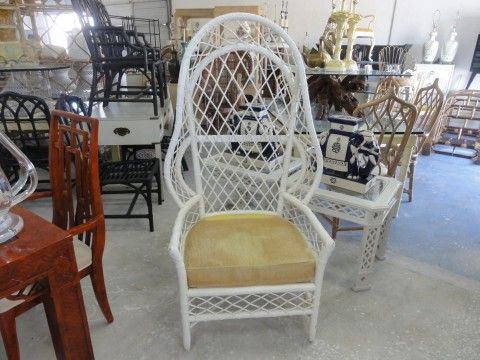Elegant Canopy · Vintage Rattan Hooded Chair ...