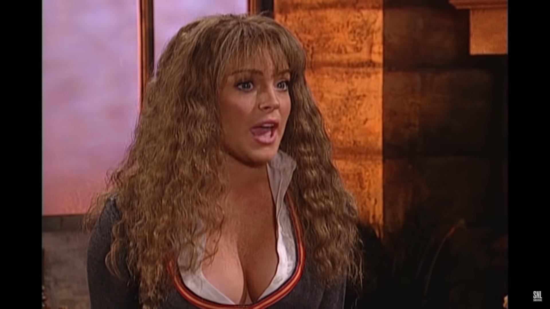 Lindsay Lohan Speaks Rp In Harry Potter Spoof Spoofs Lindsay Lohan Harry Potter