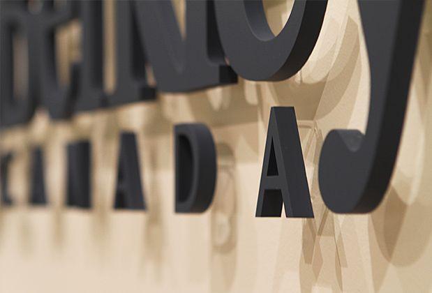 3d sign office corporate logo sign & design, Wall mirror , design ...