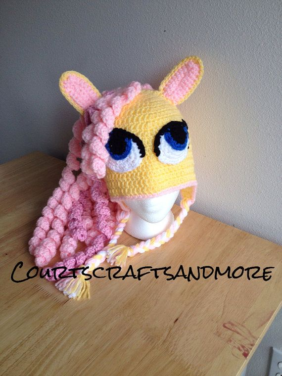 My Little Pony Crochet Hat Fluttershy by CourtsCraftsandmore, $30.00 ...