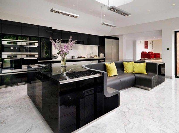 Isla de cocina con sofá incluido. Los diseñadores de The Myers Touch ...