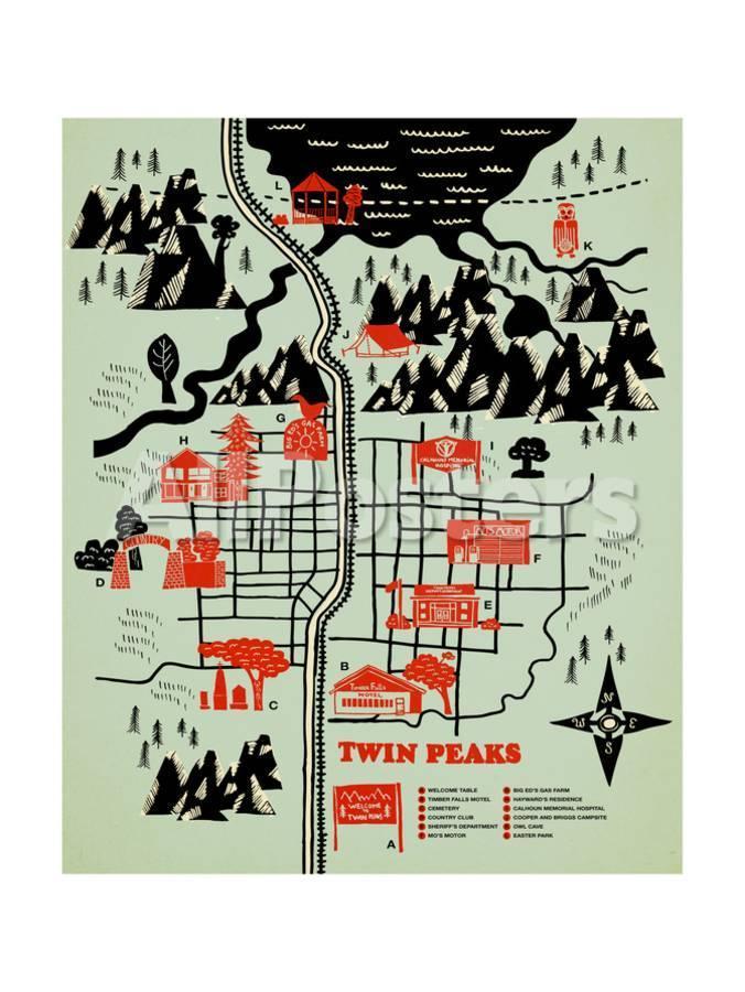 'Welcome to Twinpeaks' Giclee Print - Robert Farkas   AllPosters.com